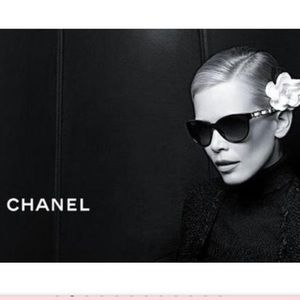 CHANEL Accessories - CHANEL Butterfly Chain Sunglasses 5215-Q Black